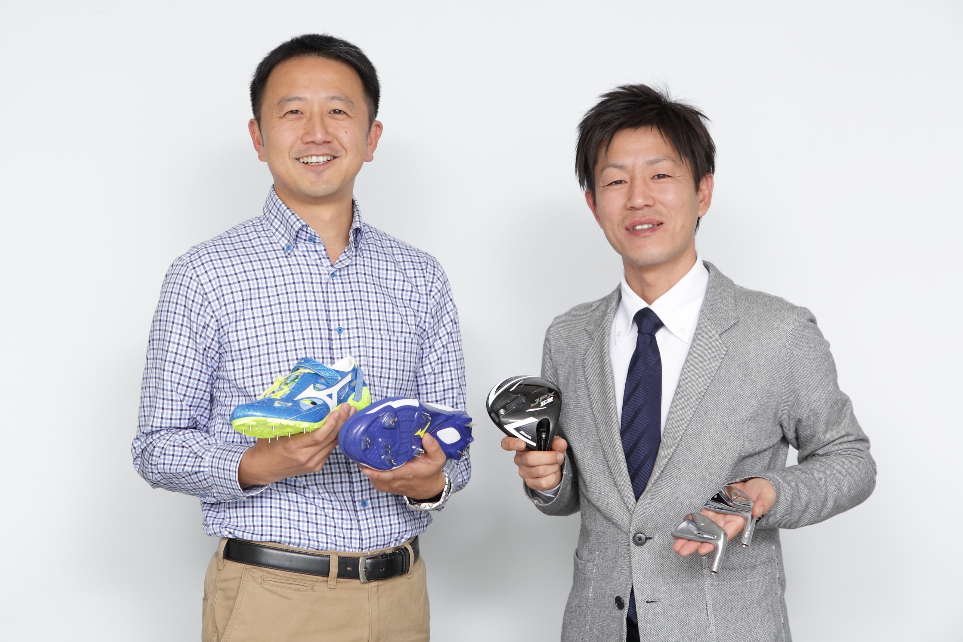ミズノ株式会社 PTC Creo導入事例 ミズノ株式会社の伊藤氏(左)と土井氏(右)