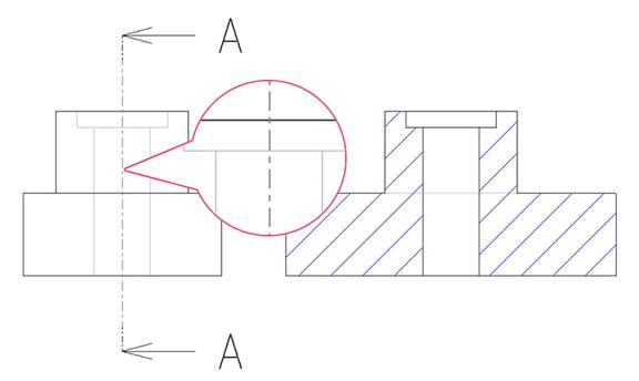 Creo Parametricの切断線 cutting_line std_jis設定の場合