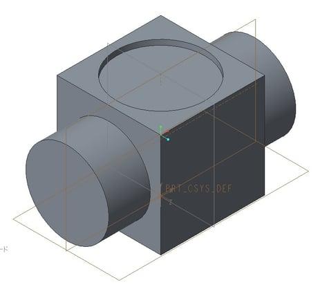 PTC Creo Parametric 3.0で作成したアイソメトリック方向の例