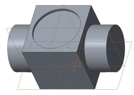 PTC Creo Parametricで部品をデフォルトビュー方向に向けた状態