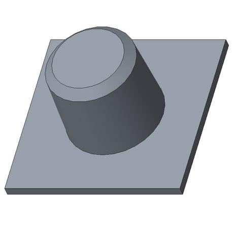 Creo Parametric画面:「シードと境界」サーフェスを選択サンプル1