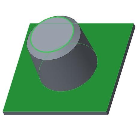 Creo Parametric画面:「シードと境界」で境界サーフェスを選択