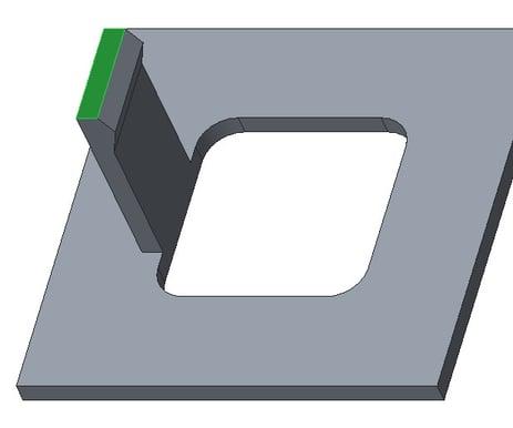 Creo Parametric画面-選択されたシードサーフェス