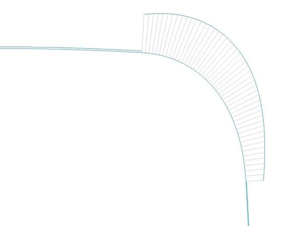 PTC Creo Parametricの曲率解析(正接カーブの曲率)