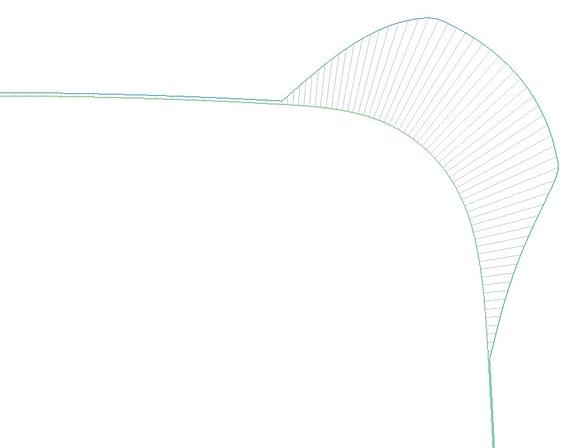 PTC Creo Parametricの曲率解析(曲率連続カーブの曲率)