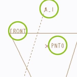 PTC Creo Parametricのデータムタグ