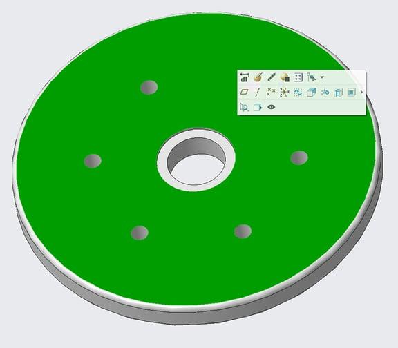 PTC Creo Parametric 4.0の部品サーフェスジオメトリを選択