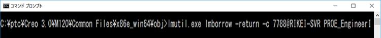 コマンドプロンプトでlmutil.exeを実行する