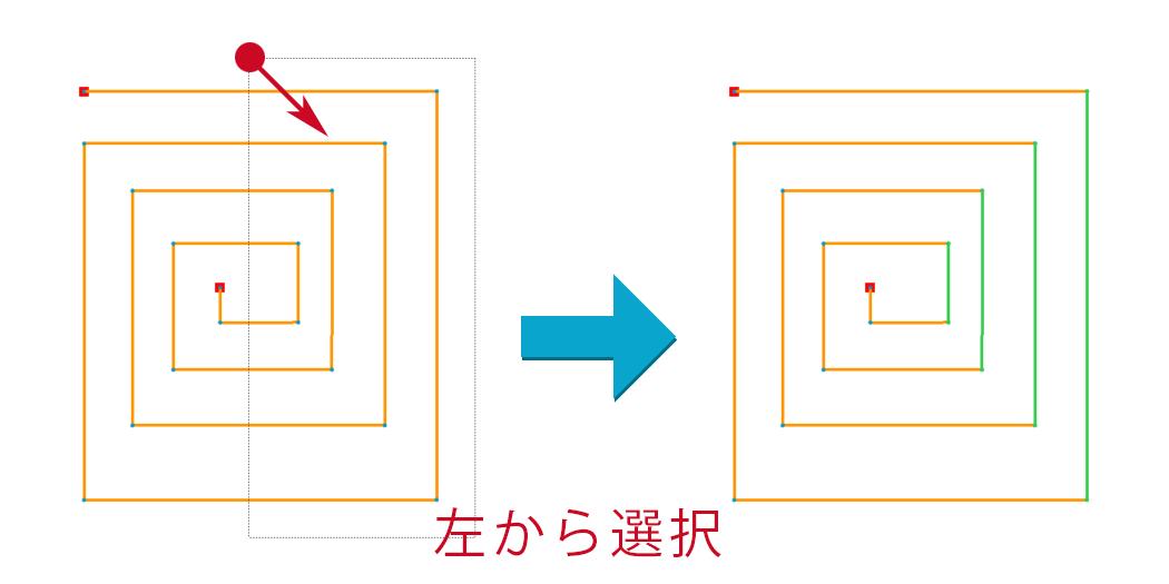 Creo Parametricのスケッチャーで左から囲んでアイテムを選択