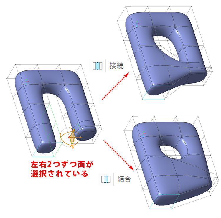 Creo Parametricフリースタイルの接続と結合