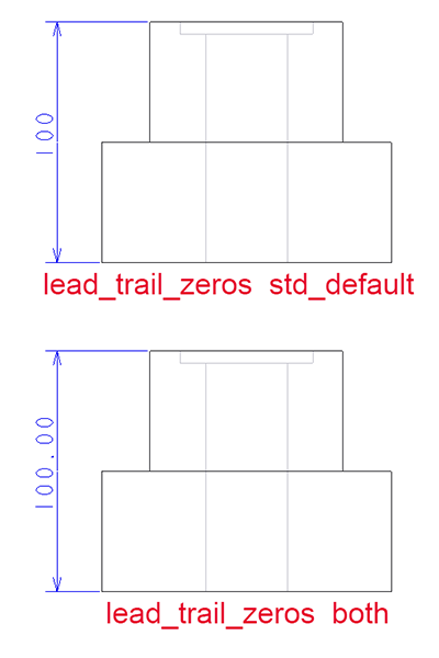 Creo Parametric図面の寸法値の表示のされかた