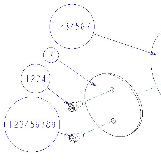 Creo Parametricのデフォルト設定によるバルーンサイズの変化