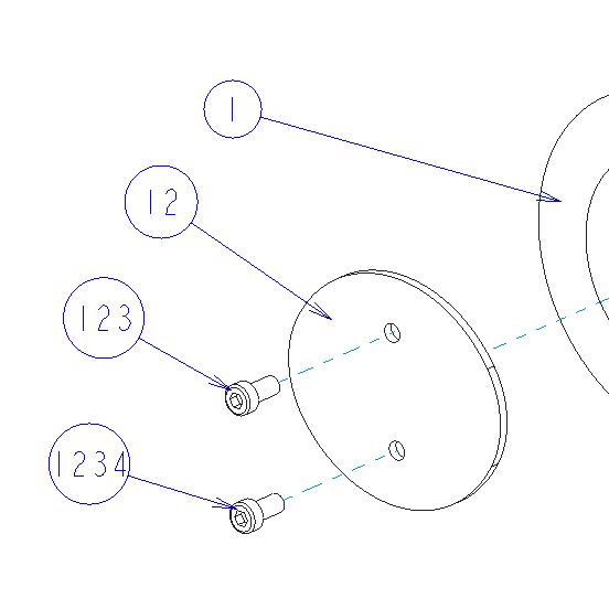 Creo Parametricの図面に表示されたバルーン