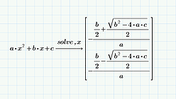 PTC Mathcad 変数や記号を含む数式